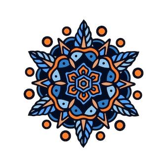 Tatuagem simétrica da velha escola da mandala