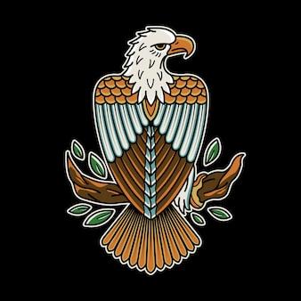 Tatuagem vintage águia retrô