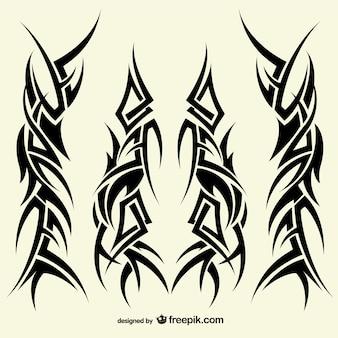 Tatuagens coleção desenhos tribais