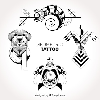 Tatuagens geométricas detalhadas