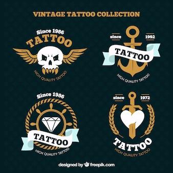 Tatuagens ornamental do vintage