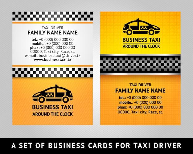 Táxi com cartão de visita