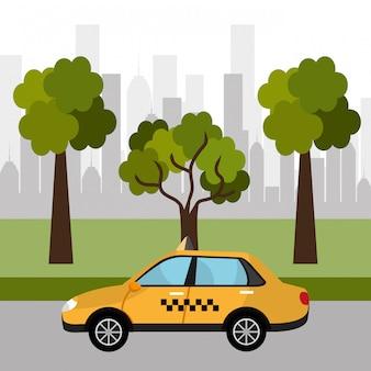 Táxi de desenho urbano