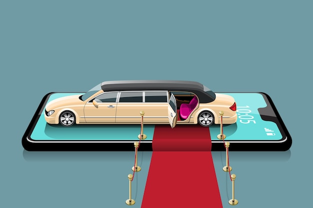 Táxi limusine para passageiros especiais