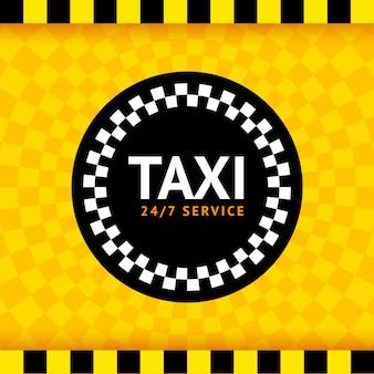 Táxi redondo símbolo