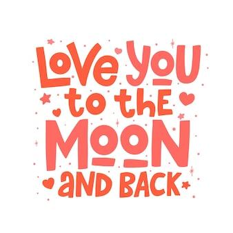 Te amo até a lua e de volta, letras isoladas