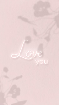 Te amo, palavra neon no vetor de fundo rosa