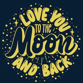 Te amo para a lua e para trás