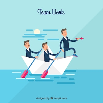 Team work concept com design plano