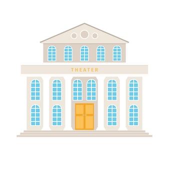 Teatro de construção com desenhos animados de colunas