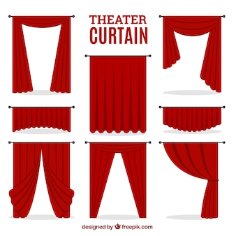 Teatro decorativa conjunto de cortina