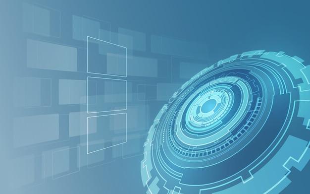 Tech sci fi fundo conceito futurista digital