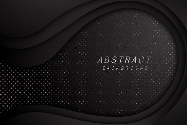 Tech textura de design abstrato escuro com decoração de pontos brilhantes de metais