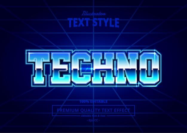 Techno illustrator text effect