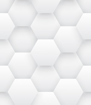 Technologic 3d hexagons bright abstract seamless pattern