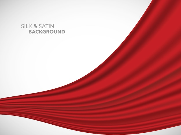 Tecido de cetim de seda ondulado abstrato para a cerimônia de inauguração