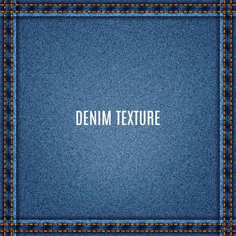 Tecido de ganga com textura azul jeans e bolso