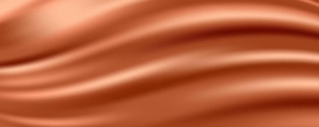 Tecido de seda vermelho