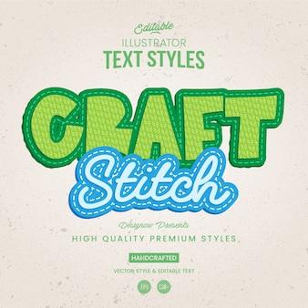 Tecido e estilo de texto stich