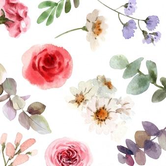 Tecido floral padrão vector.