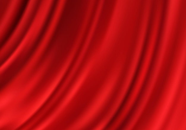Tecido luxuoso de fundo vermelho cortinas de seda