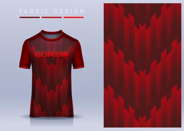 Tecido têxtil para camiseta esportiva modelo de camisa de futebol para vista frontal do uniforme do clube de futebol