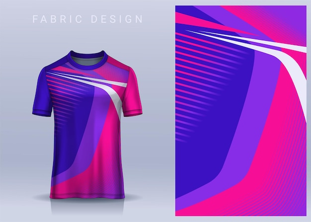 Tecido têxtil para camiseta esportiva vista frontal do uniforme de futebol