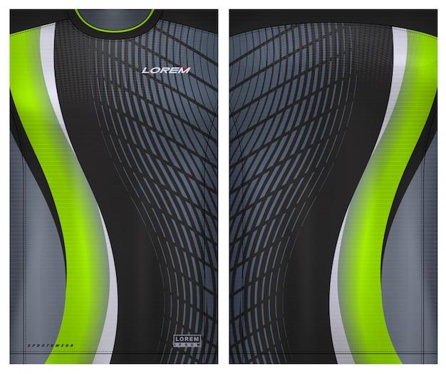 Tecido têxtil para t-shirt sport, camisola de futebol para clube de futebol. vista frontal e traseira uniforme.