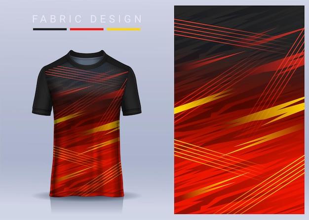 Tecido têxtil para t-shirt sport, camisola de futebol para clube de futebol. vista frontal uniforme.