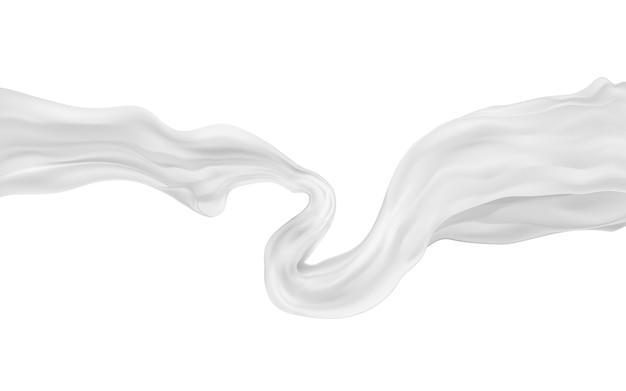 Tecido translúcido cinzento flutuante