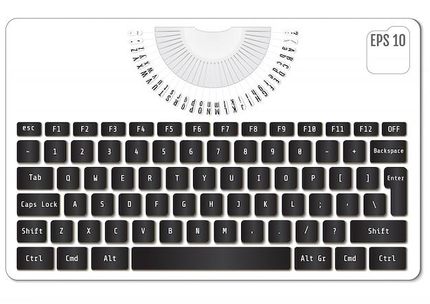 Teclado de laptop preto