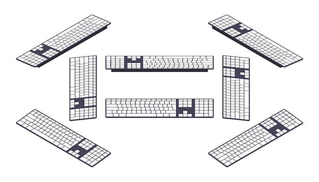Teclado pc isométrico