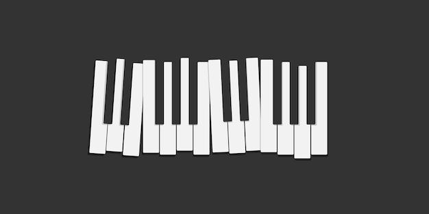 Teclas de piano isoladas em preto