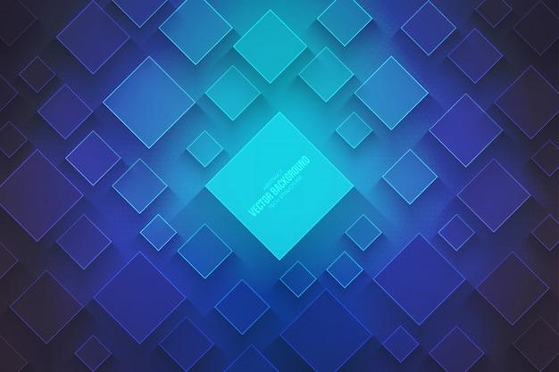 Tecnologia 3d abstrata de fundo azul vector