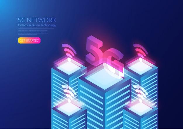 Tecnologia 5g isométrica