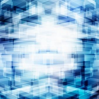 Tecnologia abstrata 3d geométrica sobreposição fundo azul