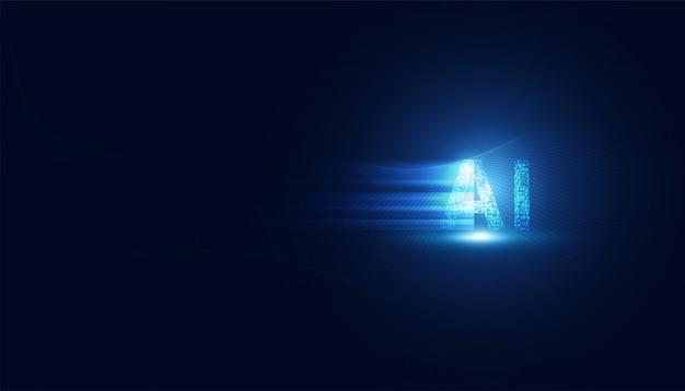 Tecnologia abstrata ai no digital futurista e velocidade