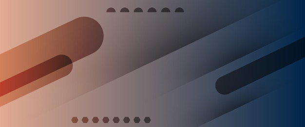 Tecnologia abstrata azul escuro marrom claro gradiente papel de parede ilustração vetorial