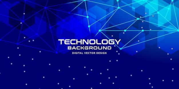 Tecnologia abstrata com estilo geométrico