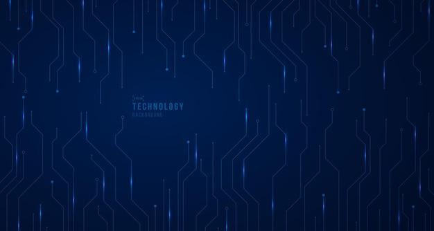 Tecnologia abstrata de modelo de sistema de linhas eletrônicas