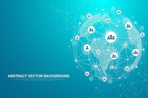 Tecnologia abstrata do conceito de conexão de rede.