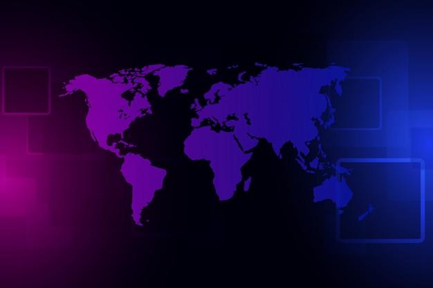 Tecnologia abstrata do fundo. visualização dos dados grandes. conceito digital do cyber da segurança.