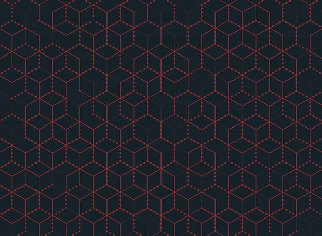 Tecnologia abstrata do hexágono da cor do fundo moderno.