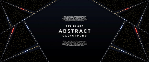 Tecnologia abstrata e futurista com fundo geométrico de gradiente