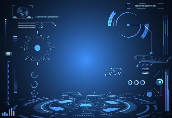 Tecnologia abstrata futurista conceito interface holograma