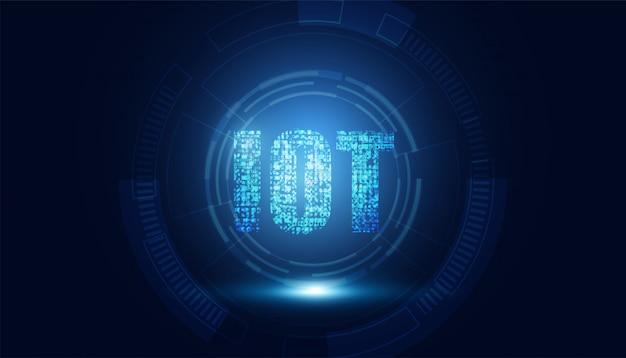 Tecnologia abstrata internet das coisas (iot) computação digital