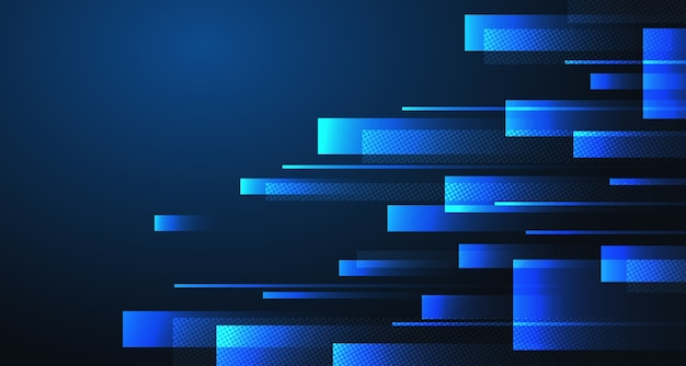Tecnologia abstrata retângulos azuis padrão projeto arte base