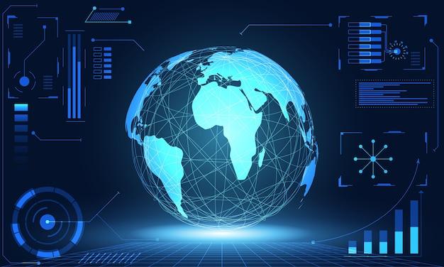 Tecnologia abstrata ui mundo futurista