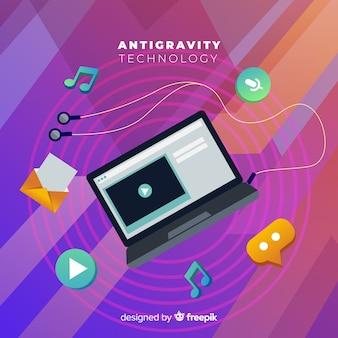 Tecnologia anti-gravidade com elementos