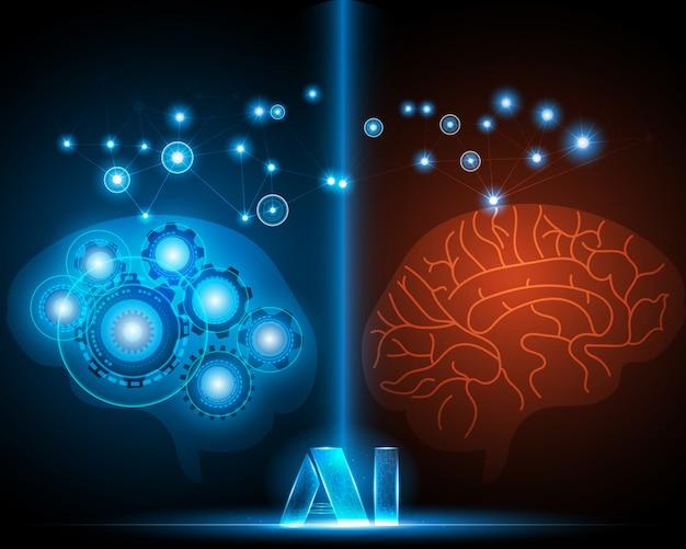 Tecnologia cerebral humana e robô